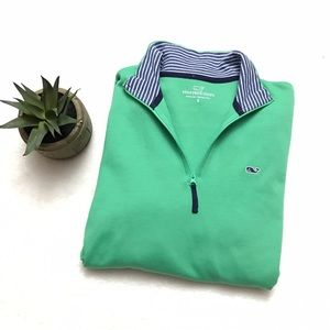 Vineyard Vines Other - VINEYARD VINES Green Striped Stratford Pullover