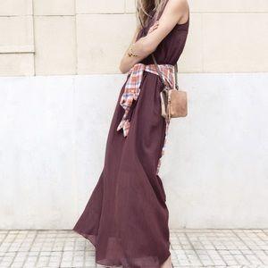 Madewell Dresses & Skirts - Madewell Silk Blend Maxi Bordeaux  Large