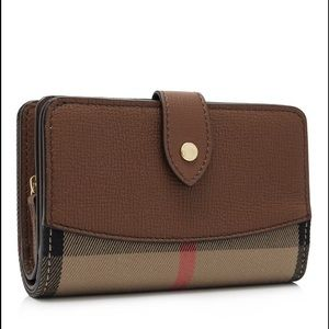 Burberry Handbags - Burberry leather and canvas wallet