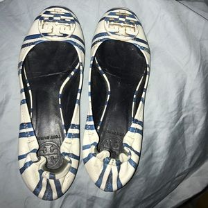 Tory Burch Nautical striped flats