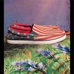 Sanuk Other - Sanuk Stars and Stripes men's slip on shoes