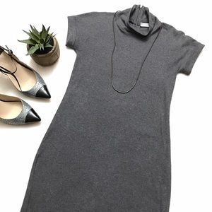 Brunello Cucinelli Dresses & Skirts - BRUNELLO CUCINELLI Gray Mock Neck Dress