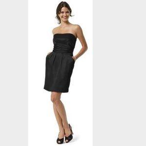 David's Bridal Dresses & Skirts - Short Charmeuse Dress w/ Ruched Waist and Pockets