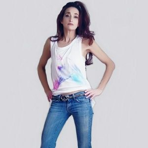 Chaser Tops - Chaser Rainbow Horse Tank Top-Size XS