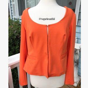 Eloquii Jackets & Blazers - Eloquii Scoopneck Blazer Orange