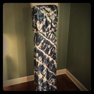 Young Fabulous & Broke Strapless Tie Dye Maxi