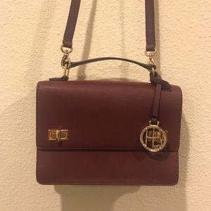 Henri Bendel maroon crossbody purse bag