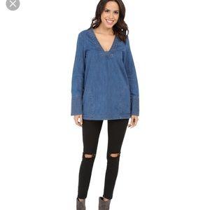Sunbelt Tops - Never worn Retro Sunbelt denim tunic size S/M