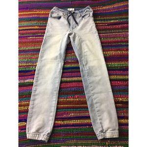 Cotton On Denim - Cotton On Drop Crotch Harem Jogger Pants Sz 2