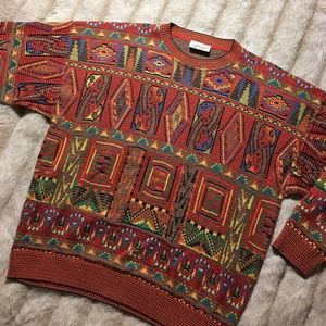monello Other - Vintage Monello All over Pattern Crewneck Sweater