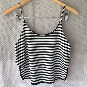 silence + noise Tops - Silence+Noise stripe crop top