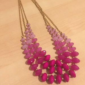 J. Crew Jewelry - Purple layered statement necklace