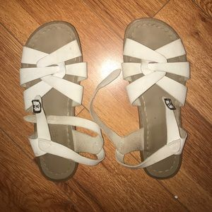 Salt Water Sandals by Hoy Shoes - White Salt Water Sandals