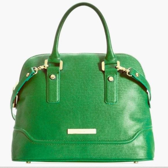 6521bcff44f Ivanka Trump Bags | Green Ava Dome Satchel Bag Purse | Poshmark