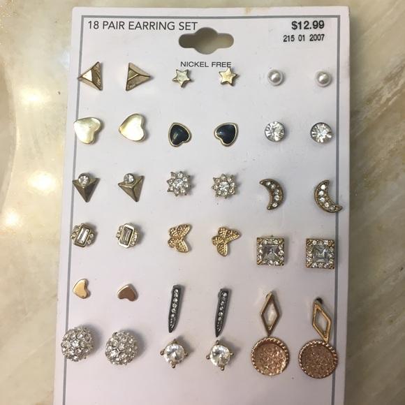 Set of 18 earrings- Target, Rue 21, Forever 21