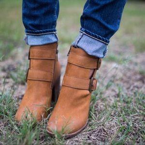 Steve Madden Shoes - Steve Madden Trevur Cognac Leather Bootie