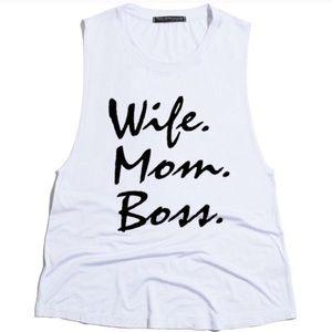 Urban Luxe Design Co. Tops - Wife Mom Boss Tank
