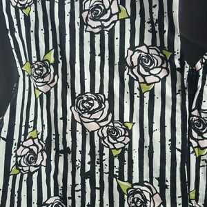 Retro Chic Dresses & Skirts - Rockabilly Style Rose Print & Stripes Dress