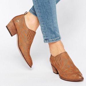 Dolce Vita Shoes - Dolce Vita Brown Samson Western Nubuck Booties