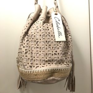 Cleobella Handbags - SALE 💛Cleobella Crossbody Laser Cut Bucket Bag