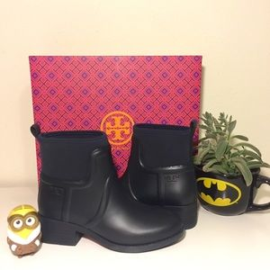 Tory Burch Shoes - Brand new Tory Burch April Rain Boots Size 7 Navy