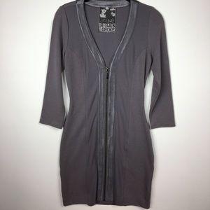 🆕YFB>bodycon stretch zipper dress NWT