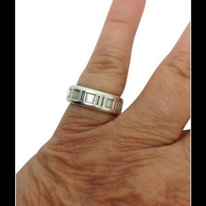Tiffany & Co., Sterling silver atlas ring band