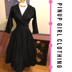 Pinup Girl Clothing Dresses & Skirts - Pinup Girl Clothing Black Dress