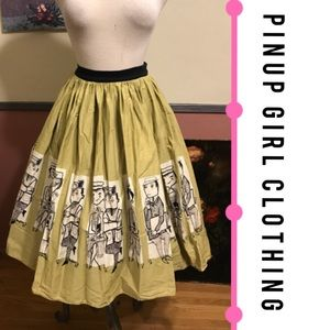 Pinup Girl Clothing Dresses & Skirts - Pinup Girl Clothing Mary Blair Commuters Skirt