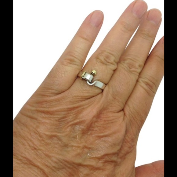 d79a5c04a Tiffany & Co. Jewelry   Tiffany Co Sterling Silver 18k Hook Eye Ring ...