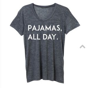 "Ily Couture Tops - BRAND NEW!! ILY couture ""pajamas all day"" tee"