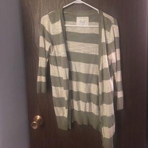 Heritage 1981 Sweaters - Heritage 1981 green and cream cardigan