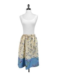 Suno Dresses & Skirts - Suno - Floral Print Silk Drawstring Waist Skirt Sz 4
