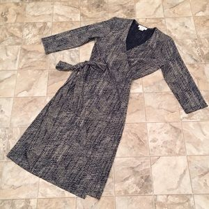 CALVIN KLEIN stretch wrap dress