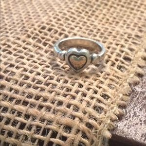 James Avery Jewelry - James Avery Heart Ring---Silver and gold---Size 5
