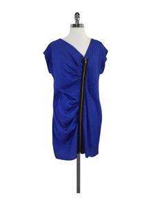 Corey Lynn Calter- Blue & Black Polka Dot Dress Sz 8