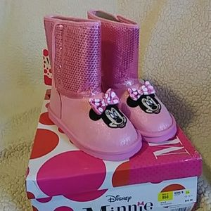 Disney Other - Minnie Mouse Glitter Boots