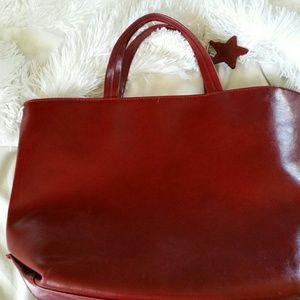 Estee Lauder Handbags - Este Lauder red leather handbag