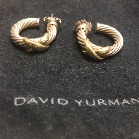 a84f0b5e5 David Yurman Jewelry - David Yurman Cable X Hoop Earrings