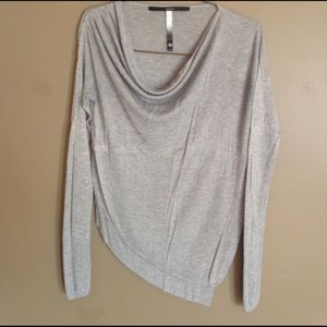 Kensie Sweaters - Kensie asymmetrical bottom cowl neck sweater