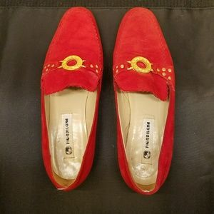 e96d3835461 Fiordiluna Shoes - Final SALE - FIORDILUNA red suede loafers