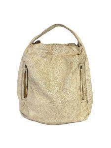 Bryna Nicole Handbags - Bryna Nicole- Serrano Distressed Leather Oversized Hobo Bag