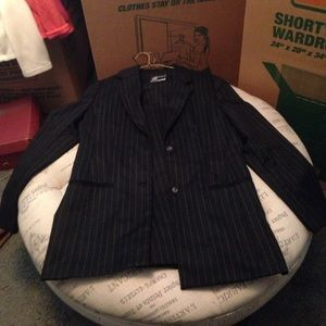Sag Harbor Jackets & Blazers - Sag Harbor black pinstripe suit