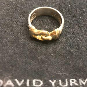 David Yurman Jewelry - David Yurman two-tone cable buckle ring