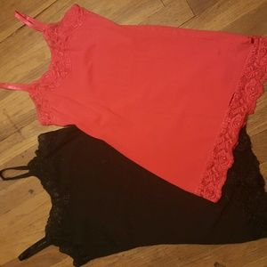 Cotton/lace on top and bottom Cami bundle