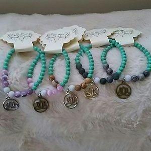 Boho Gypsy Sisters Jewelry - Genuine agate bead bracelet