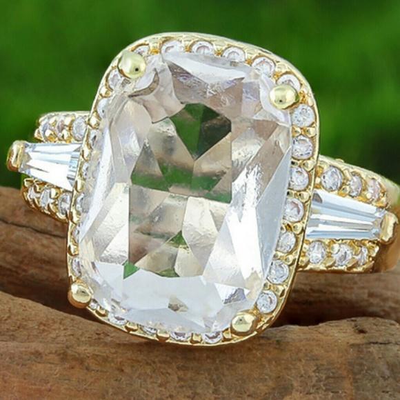 95 off jewelry beautiful man made white sapphire ring for Man made sapphire jewelry