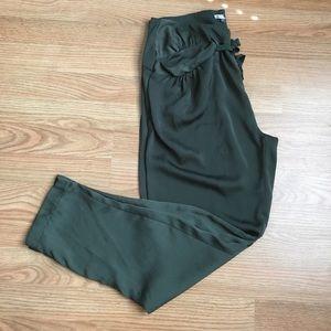 High waist silky pants