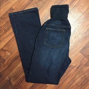 Indigo Blue Denim - MATERNITY Bootcut Jeans
