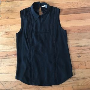 veronica beard Tops - VERONICA BEARD black silk sleeveless blouse